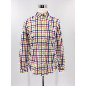 J MCLAUGHLIN Women's Plaid Cotton ButtonUp  Shirt
